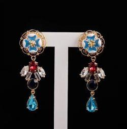 Ajur klipsli küpeler Dolce & Gabbana