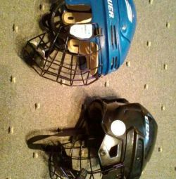 Hockey helmet with grille