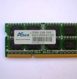 ASint 2GB PC3-10600S DDR3-1333M
