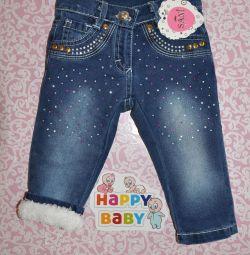 Новые зимние джинсы на девочек.