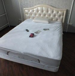 Ascona bed with mattress.
