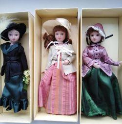 Фарфоровые куколки 20 см