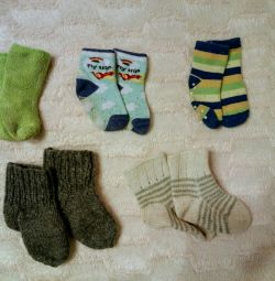 Socks by a package on a leg of 13-15 cm.