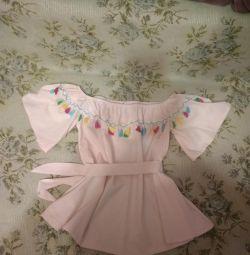 Boho summer blouse