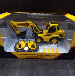 Tractor Excavator 1:20, 28cm, 6 channels new