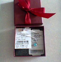 Pendant silver with zirconia