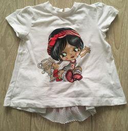 Set Pinetti (rochie + tricou) 98 cm