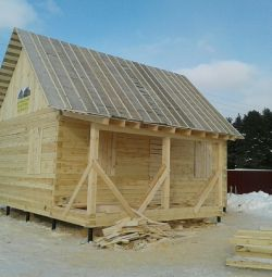 House made of timber 6 * 8