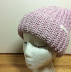 Шапка писк моды нежно-розового цвета, 55-58,арт299