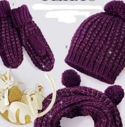 Pachet nou: eșarfă / pălărie / mănuși Snoop