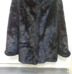 Σύντομη γούνα παλτό isk.norka 48r, που χρησιμοποιείται