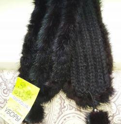 New mink fur headband