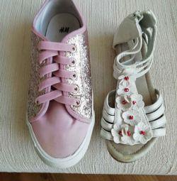 Sandalet 29ramm spor ayakkabı Eur33razm