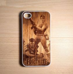 Case with an individual engraving on iPhone