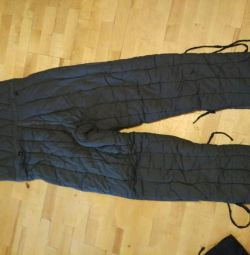 Trousers-overalls wadded