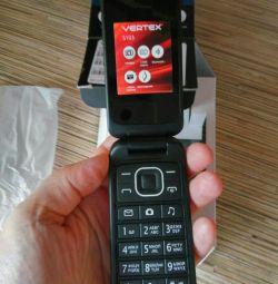 Τηλέφωνο clamshell σε 2 κάρτες sim Vertex
