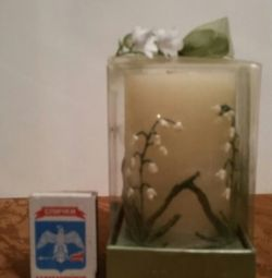 Candle gift lily of the valley.