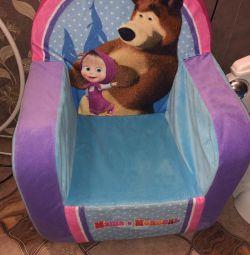 Мягкое кресло маша и медведь