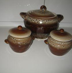Pots for roast