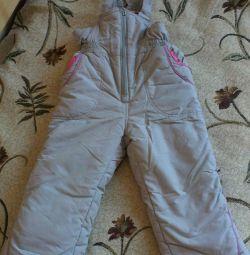 Ζεστές φόρμες (παντελόνι) για κορίτσι 1,5-2 ετών