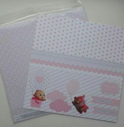 Scrapbooking Packing 30 to 30 paper. Price for 10pcs.
