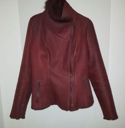 Genuine leather and fur 44 (m)