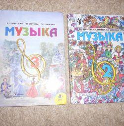 Müzik ders kitapları 2 ve 3 sınıfları