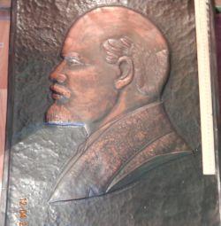 Ανάγλυφο πορτρέτο του Λένιν