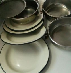Utensils camping (stainless steel)