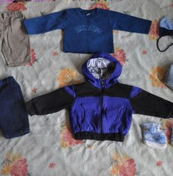 A package of clothes for a boy of 6 months. - 2 years