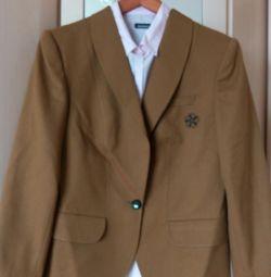 Пиджак чистошерстяной горчичный, р.48-50