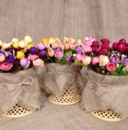 Flori artificiale, decor, interior, trandafiri, buchet.