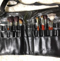 Bag case for makeup brushes