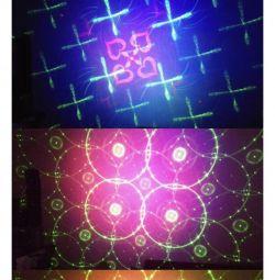 Лазерная светомузыка RGB более 40 рисунков
