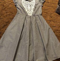 Νέο φόρεμα για τη Ρωσία, μέγεθος 44, κλουβί Vichy