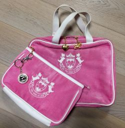 Geantă și geantă cosmetică (portofel) pentru fete