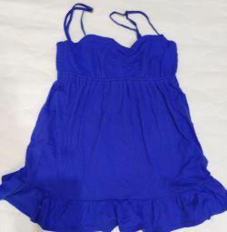 Μπλούζα, μέγεθος 40-42-44 πορτοκαλί και μπλε