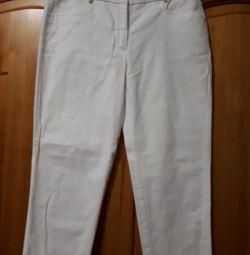 Pantaloni albi 46r.