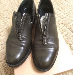 Shoes Loafers genuine leather, 38 sizes.