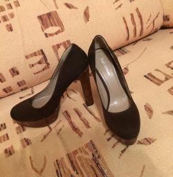 Pantofi maro suede