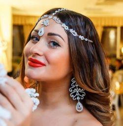 Тика серьги можно как свадебные украшения