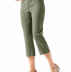 Trousers 3 * 4, color olive art 417526