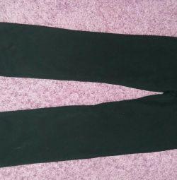 Kızlar için yünlü yeni spor pantolon