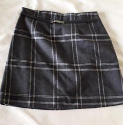 School woolen skirt