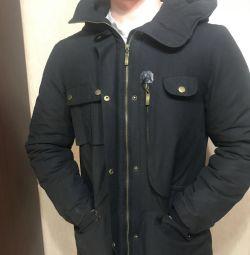 Aşağı ceket ceketi. yeni