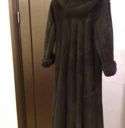 Sheepskin coat for wives.