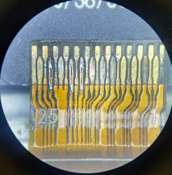 Soldering under a microscope