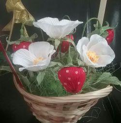Μπουκέτο με φράουλες από σοκολάτες