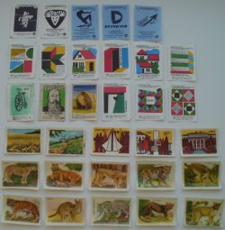 Matchbox labels. New and used, 32pcs
