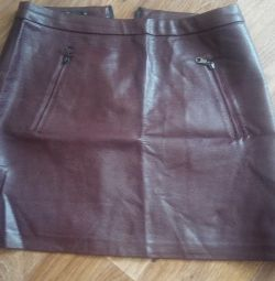 Leather skirt (ecoskin)